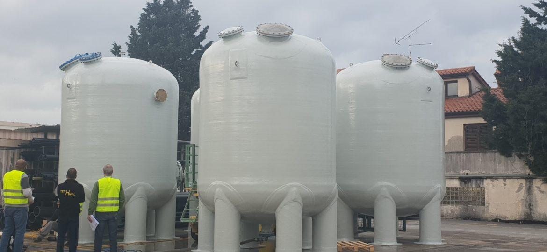FRP limestone filters